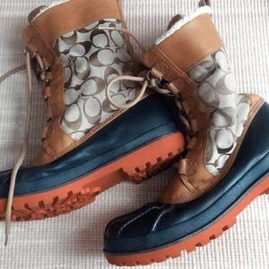 Authentic Coach duck boots